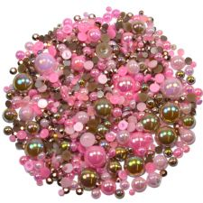 'STRAWBERRY COCOA' Theme Rhinestone and Pearl Embellishment Pack